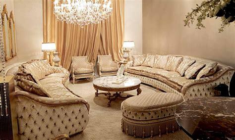 high   elegant plush living room furniture set