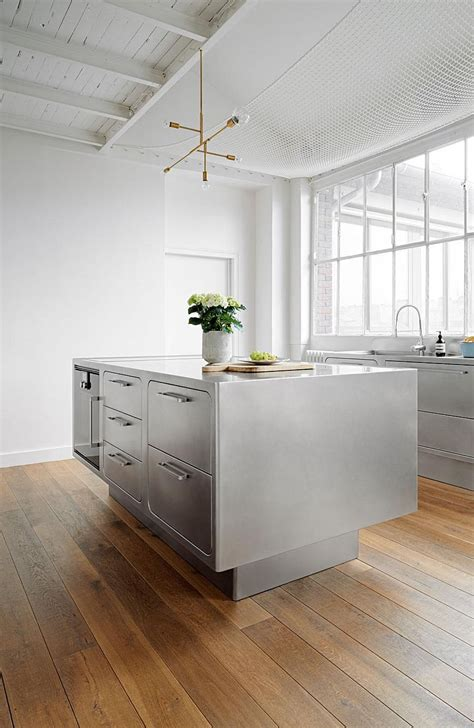 steel kitchen island sizzling stainless steel kitchen brings home professional