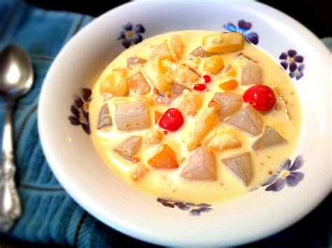 Yema Cassava Cake and Cheesy Nutty Fruit Salad