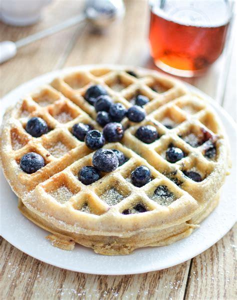 blueberry waffle meyer lemon and blueberry waffles