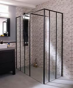 acheter une cabine de douche laquelle choisir cote With porte de douche coulissante avec plan bois salle de bain