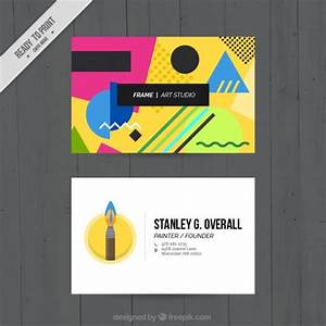 Memphis business cards art studio vector free download for Business cards memphis