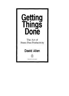 Getting Things Done Free Book Download PDF EbookysPDF Ebookys
