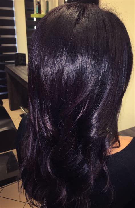 Woman Hair Black Purple Color Hair Colors And Styles