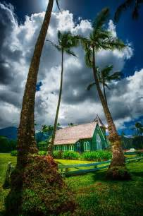 Green Church in Hanalei Kauai Hawaii