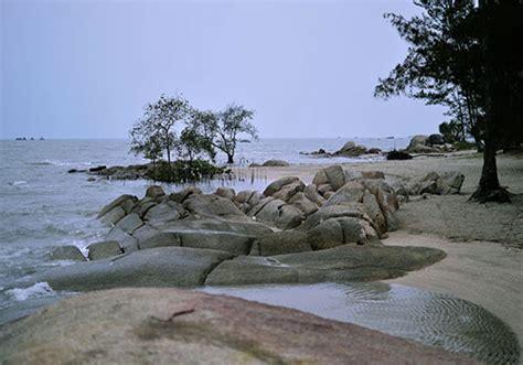 tapak hantu beach  batu belubang village bangka island
