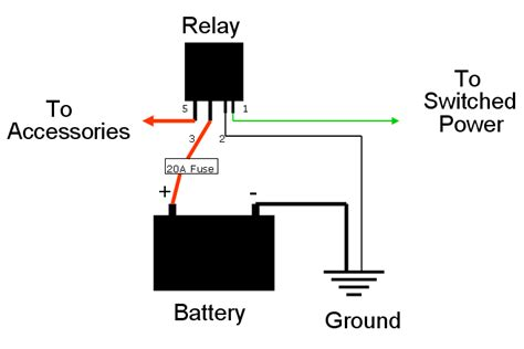 wiring a relay for accessories