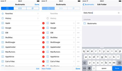 create folder on iphone how to use bookmark folders in safari