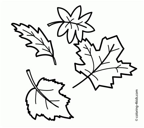 printable leaves coloring pages coloring home