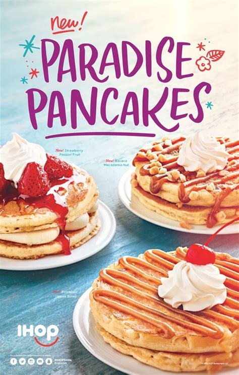 pancake flavors ihop restaurants celebrate summer with new pancakes in fresh flavors that evoke a tropical