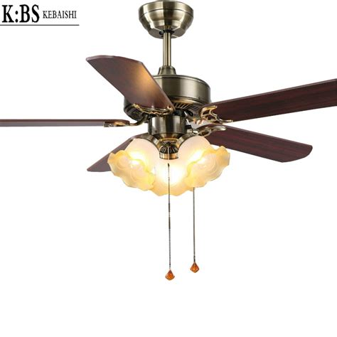 european modern fan light living room restaurant bedroom