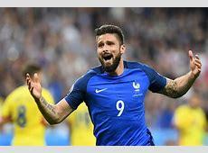Arsenal's Olivier Giroud is first goalscorer at Euro 2016