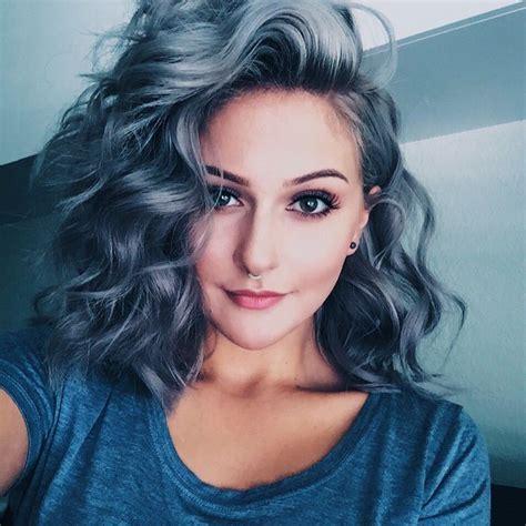 The 25 Best Blue Gray Hair Ideas On Pinterest Blue Grey