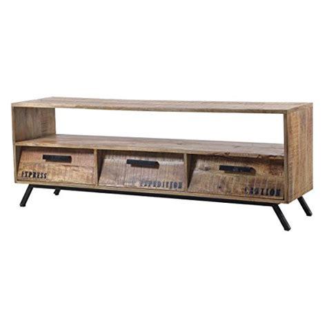 retro tv board tv lowboard tv board romsdal retro vintage design massivholz mangoholz natur tv lowboard de