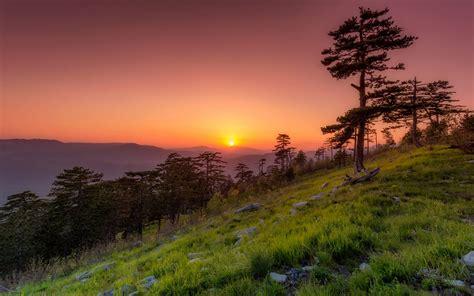 Sunset In Spring May Montenegro Desktop Hd Wallpaper