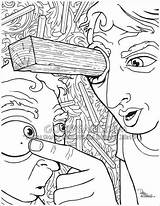 Plank Eye Coloring Pages Bible Speck Sketches Sawdust Eyes Colouring Own Christian Medium Brother Why Quote Firm Goodsalt Stand Attention sketch template