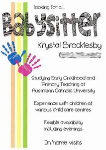 Babysitter Flyer Maker 11 Best Babysitting Flyers Images On Pinterest