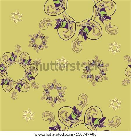 rooster drawing flower frame isolated illustration stock