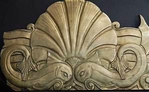 """""""Undersea Frieze,"""" Remarkable Set of Bronze Art Deco Bas"""