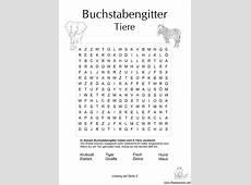 Buchstabengitter mit Tiere Schule Kindergarten