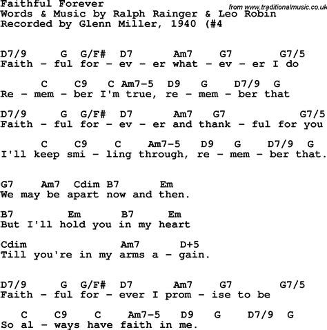 Song Lyrics With Guitar Chords For Faithful Forever