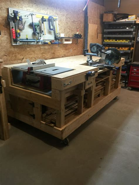 pin  sean watson  garage stuff garage work bench