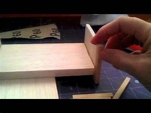How to make Bed for your 1/12 scale Dolls house - YouTube