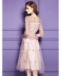 pink lace knee length formal dress for wedding guests with With pink dresses for wedding guests
