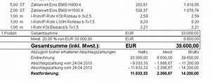 Abschlagszahlung Rechnung Muster : druck schlussrechnung ~ Themetempest.com Abrechnung