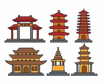 Pagoda Clipart Temple Vector Asian Illustration Outline