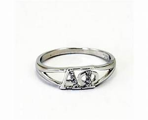 Alpha phi greek letter ring with diamonds for Greek letter rings