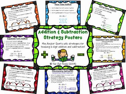 Addition Subtraction Strategies Posters Strategy Owl Teach