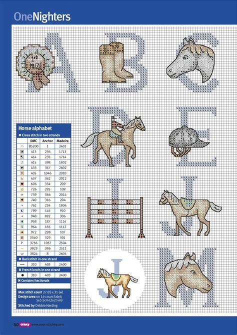 horse alphabet chart  key cross stitch horse cross stitch cross stitch alphabet