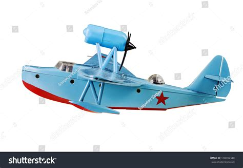 Ussr Flying Boat by Beriev Mbr2 Wwii Soviet Army Flying Stock Photo 138692348