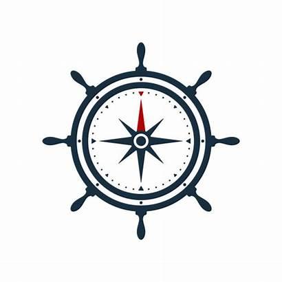 Compass Wheel Ship Rose Vector Steering Clip