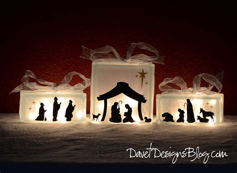 craft ideas and more from davet designs kraftyblok nativity scene with vinyl decals tutorial