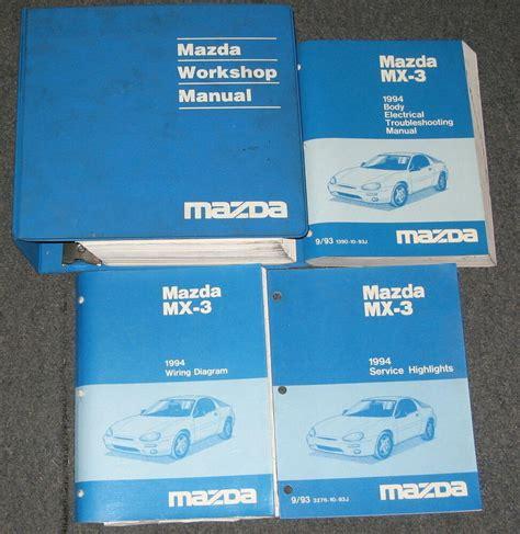 free car repair manuals 1994 mazda miata mx 5 electronic throttle control 1994 mazda mx 3 service workshop manual set ebay