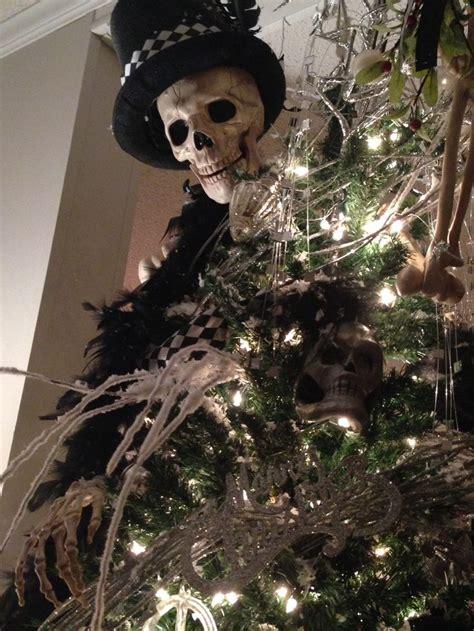 skull christmas tree images  pinterest