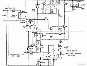 Hands-free Phone Voice-activated Device Circuit Diagram - Control Circuit