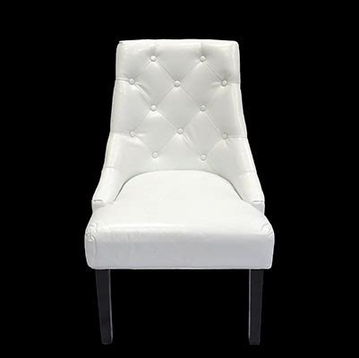 white contempo leather arm chair premiere events