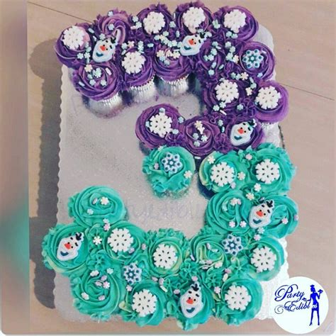number  shaped frozen themed cupcakes frozen birthday