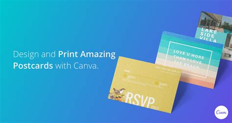 design  print postcards  canva