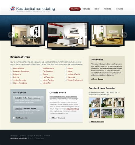 home remodeling swish template