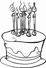 Cake Birthday Coloring Wecoloringpage sketch template