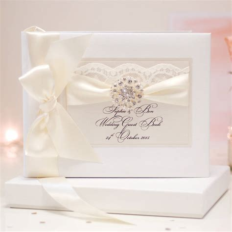 Wedding Guest Book by Opulence Wedding Guest Book Personalised By Made With