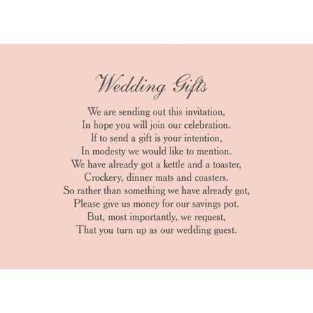 classic wedding gift  card