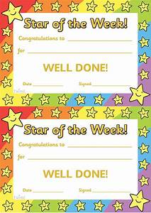 twinkl resources gtgt star of the week gtgt thousands of With star of the week certificate template