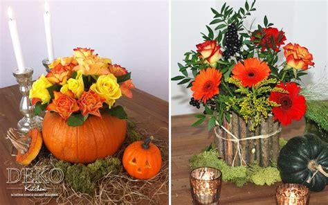Herbstdeko Fenster Vorlagen by Diy Herbstdeko F 252 R Den Tisch Mit Vasen Aus K 252 Rbis Und Holz