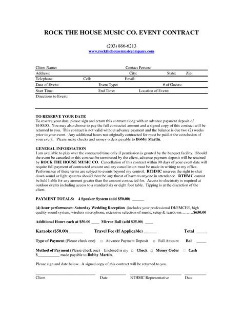 Mobile Dj Contract Template by Mobile Dj Contract Dj Contract Places To Visit