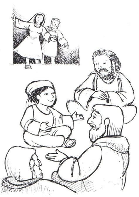 boy jesus   temple coloring page coloring home